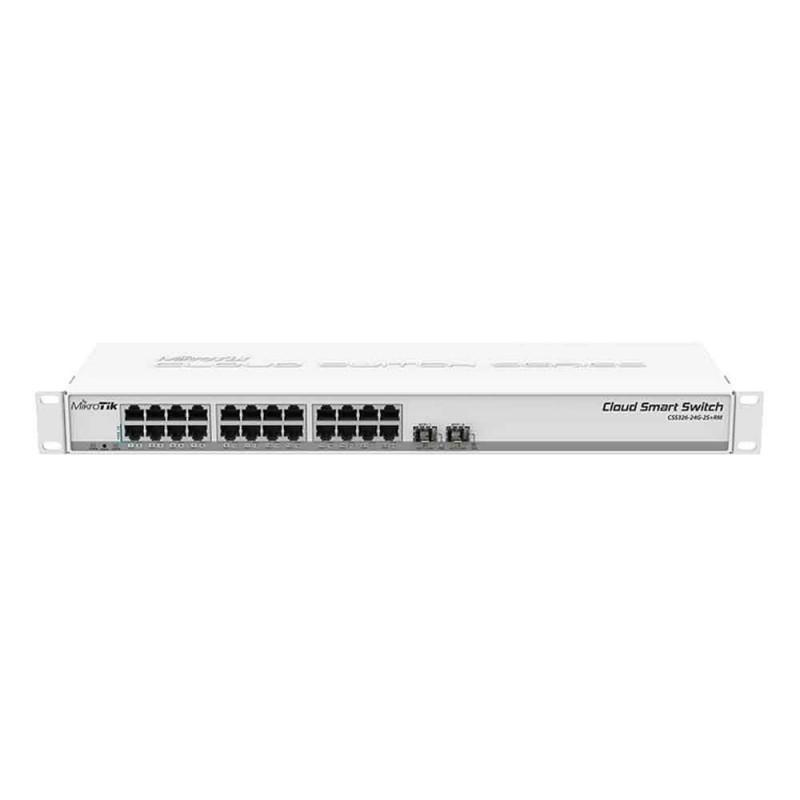 Switch 24 Puertos Mikrotik CSS26-24G-2S+RM