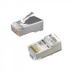 Conector Rj45 Cat6 Blindado 100 Unds